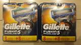 16 rezerve Gillette Fusion Proglide Power 8+8 buc noi USA