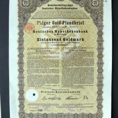 Titlu De Stat Obligatiune Germania 1930-1000-Goldmark