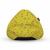 Cumpara ieftin Fotoliu Units Puf (Bean Bag) tip para, impermeabil, cu maner, 80 x 90 x 68 cm, rate galbene cool