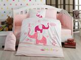 Set lenjerie de pat pentru copii, Hobby, bumbac ranforce, 100 x 150 cm, 113HBY0064, Rosu