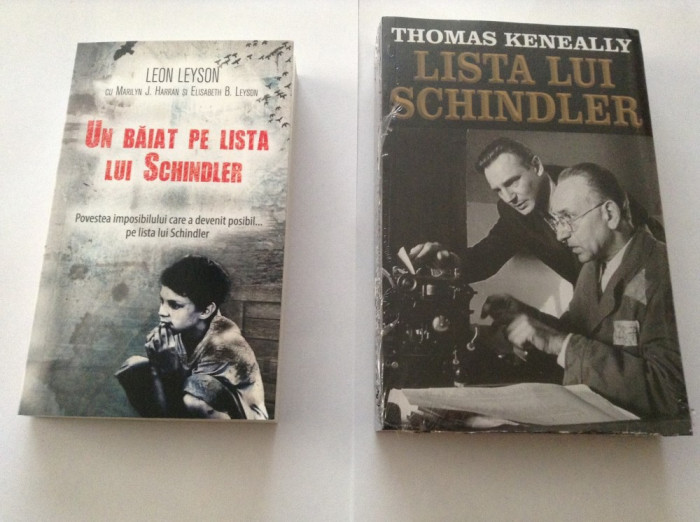 UN BAIAT PE/LISTA LUI SCHINDLER-THOMAS KENEALLY/LEON LEYSON (2 VOL)-=rf17/3