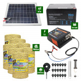 Pachet Gard electric 5J putere plus 7000m de fir si Panou Solar