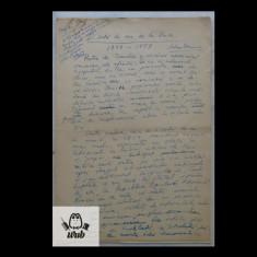 Manuscris/ Articol scris si semnat de Mihai Beniuc -  9 pagini