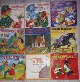 Vinil povesti in limba germana Pinocchio,Heidi,Winetou,Black Beauty,in lb sarba
