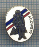 AX 500 INSIGNA MILITARA -MIDWEST - SIMBOL UN SOLDAT ECHIPAT DE RAZBOI -FRANTA