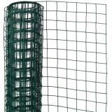 Nature Plasă din sârmă verde 0,5 x 2,5 m oțel cu plastic 13 mm pătrat