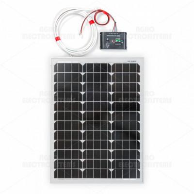 Panou solar monocristalin 50W cu regulator de încărcare foto
