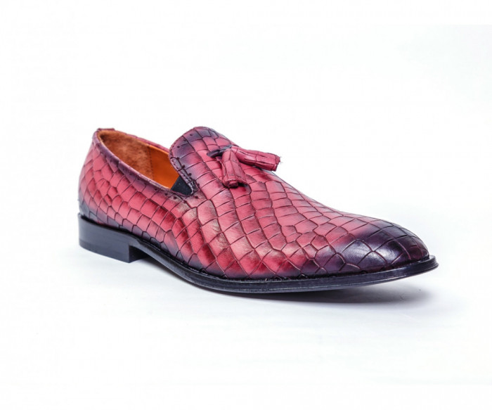 Loafers Francesco Ricotti ,piele naturala,culoare bordeaux,marime 44