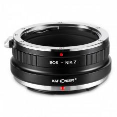 K&F Concept EOS-Nik Z adaptor montura de la Canon EOS EF la Nikon Z6 Z7 KF06.367