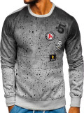 Bluză fără glugă pentru bărbat gri Bolf DD13