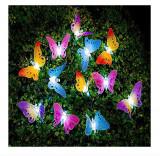 Cumpara ieftin Sirag decorativ cu fluturi luminescenti pentru gradina, incarcare solara , Aexya