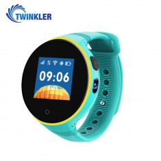 Ceas Smartwatch Pentru Copii Twinkler TKY-S669 cu Functie Telefon, Localizare GPS, Camera, Pedometru, SOS, Rezistent la apa - Turcoaz