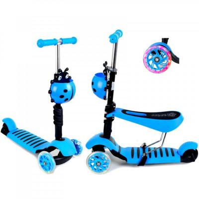 Trotineta evolutiva Scooter 3 in 1 pentru copii - Albastra. foto