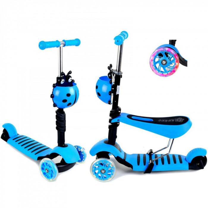 Trotineta evolutiva Scooter 3 in 1 pentru copii - Albastra.