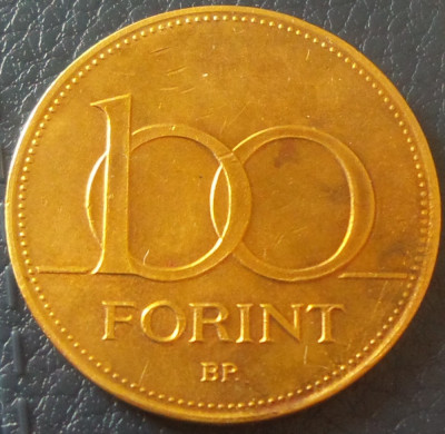 Moneda 100 FORINTI - UNGARIA, anul 1995 *cod 4017 foto