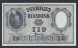 A5142 Sweden Suedia 10 kronor 1959 SEMNATURI DIFERITE aUNC UNC