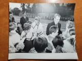 fotografie originala nicolae ceausescu si elena ceausescu anii  '80