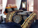 Superb set pt pat dublu ROYAL DELUXE satinat, deosebit elegant regal, 200x220 cm
