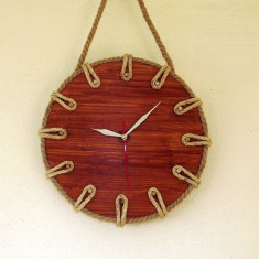Ceas lemn natural handmade