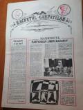 ziarul racnetul carpatilor anul 1,nr.1 al ziarului  martie 1990-prima aparitie