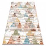 Covor POLI 9051A Geometric, triunghiurile bej / teracotă, 240x330 cm, Dreptunghi, Polipropilena