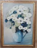 Tablou Natura statica Vas cu flori pictura ulei pe panza 58x78cm