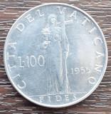(M71) MONEDA VATICAN - 100 LIRE 1955