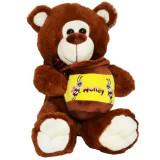 Ursulet de plus,Roben, cu borcan de miere, 26 cm,Maro,3 ani +