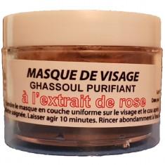 Ghassoul, pasta de argila cu flori de trandafir 150 gr
