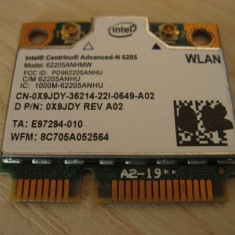Placa wireless laptop Dell Latitude E5520, Intel Advanced-N 6205, 6205ANHMW