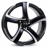 Jante AUDI Q2 7.5J x 17 Inch 5X112 et38 - Alutec Shark Racing-schwarz-frontpoliert - pret / buc, 7,5
