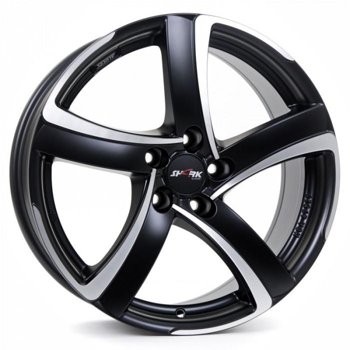 Jante AUDI A6 AVANT 7.5J x 17 Inch 5X112 et38 - Alutec Shark Racing-schwarz-frontpoliert - pret / buc
