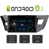 Navigatie dedicata TOYOTA Corolla Auris 2013-2019 Android internet bluetooth radio GPS WIFI CarStore Technology