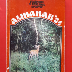 ALMANAH vanatorul si pescarul sportiv  ×  1984 stare putin uzata
