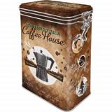Cutie metalica cu capac etans - Coffee House