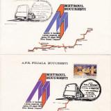 ROMANIA 1981  LP 1050  METROUL  BUCURESTI    SERIE  FDC, Stampilat