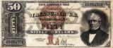 50 dolari 1880 Reproducere Bancnota USD , Dimensiune reala 1:1