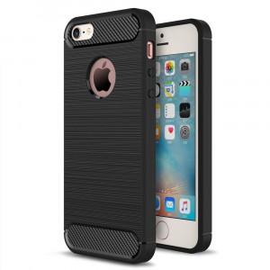 Husa APPLE iPhone 5\5S\SE - Luxury Carbon TSS, Negru