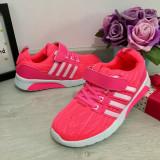 Cumpara ieftin Adidasi roz cu scai f usori pantofi material textil pt fete 31 32 33 34 35 36