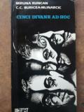 Cinci divane ad hoc- Miruna Runcan, C. C. Buricea- Mlinarciuc