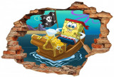 "Sticker ""Wall Crack"" SpongeBob 3 - 120 x 80 cm"