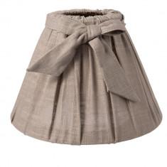 Abajur veioza textil maro Ø 22x14 cm