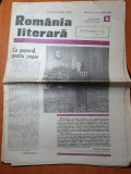 Romania literara 2 februarie 1989-omgiu lui nicolae ceausescu,ion agarbiceanu