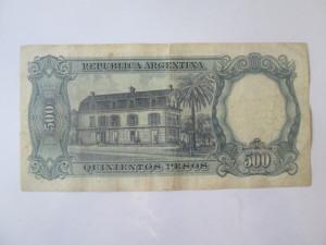 Rara! Argentina 500 Pesos 1967