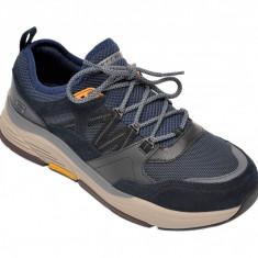 Pantofi sport SKECHERS bleumarin, Benago Flinton, din material textil