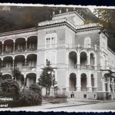 BAILE HERCULANE - HOTEL CAROL , CARTE POSTALA ILUSTRATA , MONOCROMA , CIRCULATA , DATATA 1940