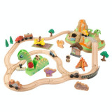 Set Trenulet din lemn de construit Dinosaur Bucket Top