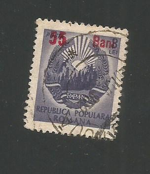 No(03)timbre-Planul Cincinal 1952-supratipar 55 bani/3lei stampilat