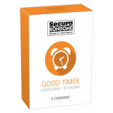 3 buc. Prezervative care intarzie ejacularea Secura Good Timer Retarding