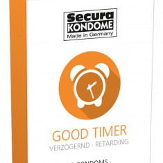 3 buc. Prezervative care intarzie ejacularea Secura Good Timer Retarding